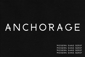 Anchorage | A Modern Sans Serif