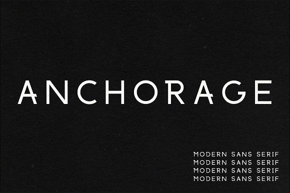 Anchorage A Modern Sans Serif Sans Serif Fonts