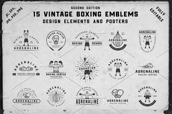 15 Vintage Boxing Emblems