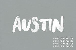 Austin   A Hand Painted Typeface