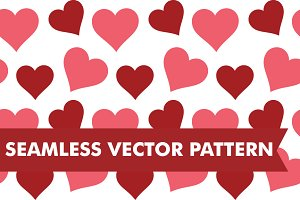 Hearts Seamless Vector Pattern