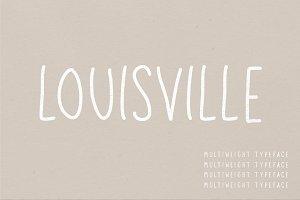 Louisville | A Multi-Weight Font