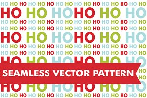 Christmas Ho Ho Ho Seamless Vector