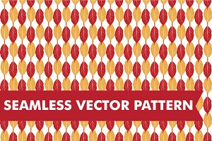 Fall Leaves Seamless Vector Pattern