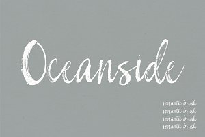 Oceanside | A Romantic Font