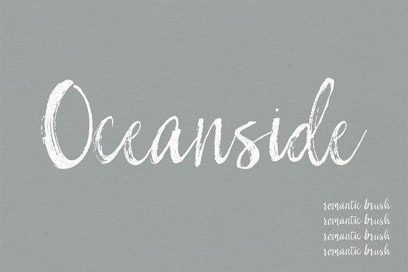 Oceanside   A Romantic Font