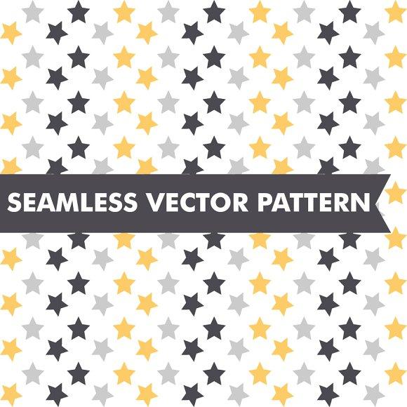 New Years Eve Stars Seamless Vector