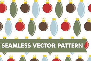 Christmas Ornaments Seamless Vector