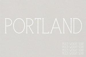 Portland Serif | A Multi-Weight Font