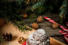 Christmas cake in a cup, mug-cake
