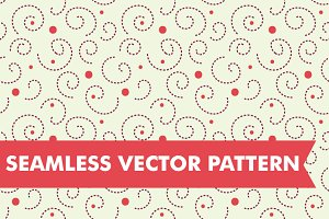 Polka Dot Swirls Seamless Vector