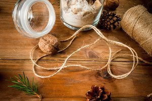Ingredients for gingerbreads in jar
