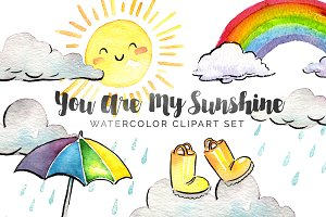 You Are My Sunshine Watercolor Set