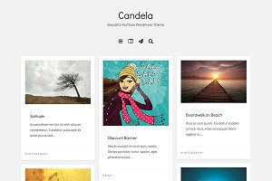 Candela Portfolio WordPress Theme