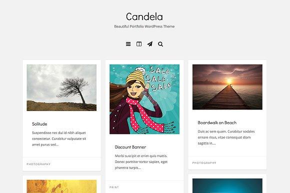 candela portfolio wordpress theme portfolio