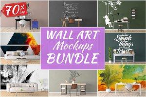 Wall Art Mockups BUNDLE V16
