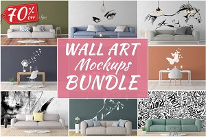 Wall Art Mockups BUNDLE V17