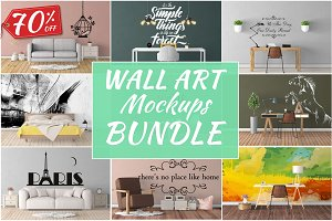 Wall Art Mockups BUNDLE V18