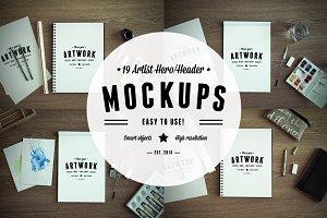 19 Artist Hero/Header Mockups