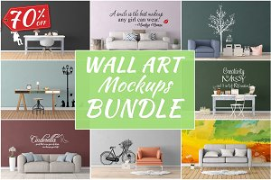 Wall Art Mockups BUNDLE V19