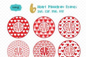 Valentine Monogram SVG