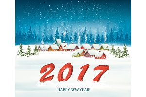 Holiday background with 2017