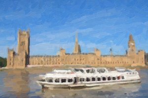 Houses of Parliament oil paint