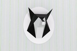 DIY Fox Trophy - 3d papercrafts