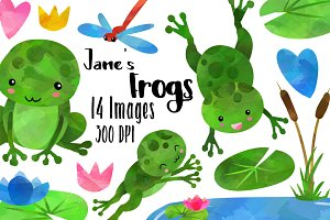 Frogs Clipart