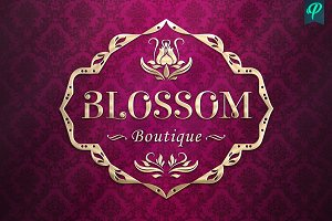 Blossom Boutique Logo Template