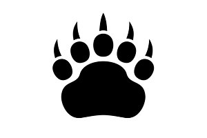 Paw Black Print Icon Set