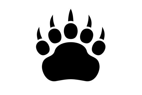 Paw Black Print Icon Set