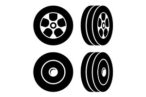 Tires Icons Set