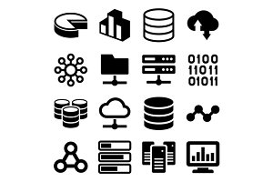 Big Data Analytics  Icons Set