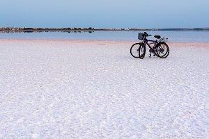 Bike ride at sunset on the lagoon