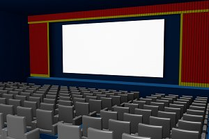 cinema theater blank film screen