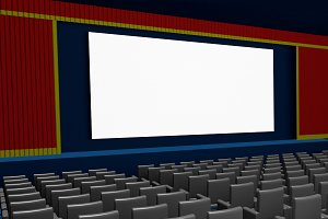movie theater blank screen