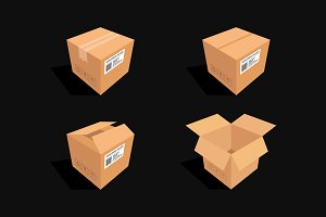 Isometric Box illustration Vol. 3