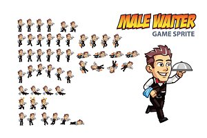 Male Waiter Game Sprite