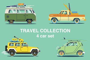 Summer travel car set