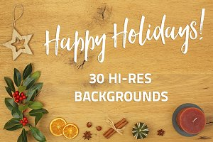 Happy Holidays - 30 backgrounds
