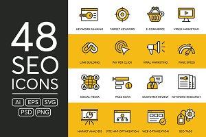 48 SEO Icons