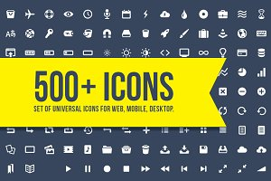 500+ universal icons