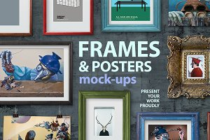 Frames and poster mock-ups