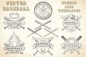 Vector Baseball GrungeLogo Templates
