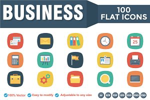Business Flat Square Icons
