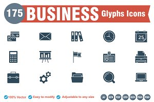 Business Glyphs icons