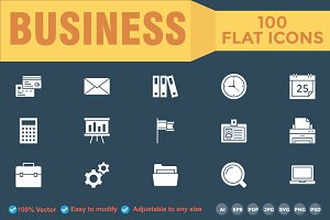Business Glyphs White Icon