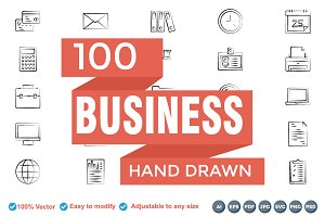 Business Hand Drown Icons