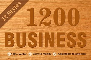 1200 Business Bundle Icons Pack